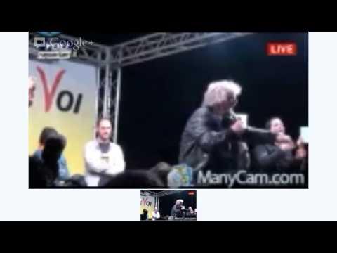 Comizio Beppe Grillo a Gela — DIRETTA VIDEO