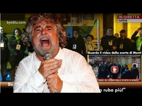 Beppe Grillo a Latina: Il ladro illuminato