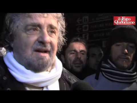 Beppe Grillo a Pomezia (Roma)