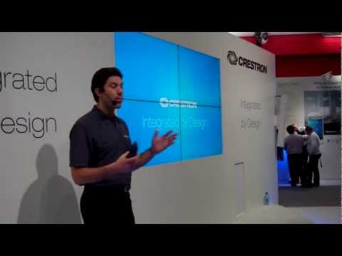 #CrestronatISE – Jeff Singer introduces the Crestron booth to the crowds at #ISE2013