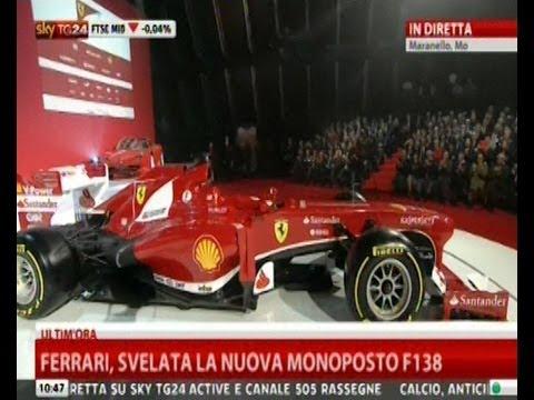 La nuova Ferrari F138 e la nuova F12 di Marchionne