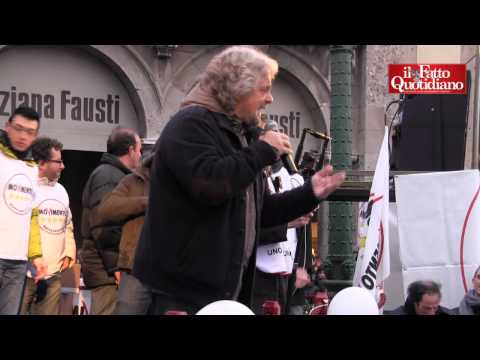 """Grillo a Bergamo: """"Dove c'è onestà non c'è politica e viceversa"""""""