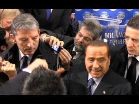 """Berlusconi: """"Restituiremo l'Imu"""". Pidiellini entusiasti a Milano"""