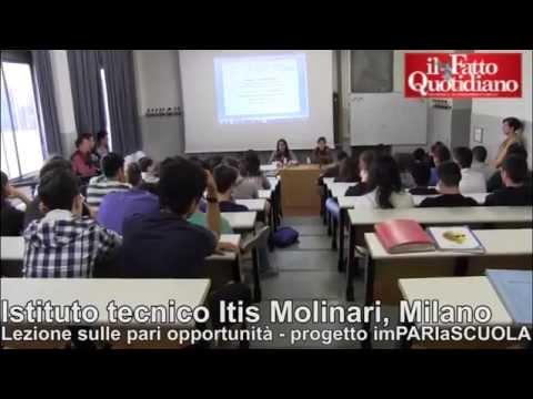 Milano, lezione sulle pari opportunità agli studenti dell'Itis Molinari