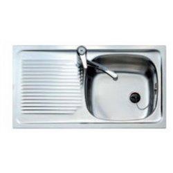 Lavello da Una Vasca con Scolapiatti Teka E/50 1C1E.REVE 3010 Acciaio inossidabile