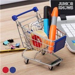 Mini Metal Shopping Trolley Blue