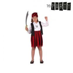 """Disfraz para Niños Pirata Rojo """"7-9 Años"""""""