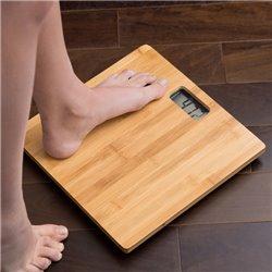 Balança Digital de Banho de Bambu 180 kg