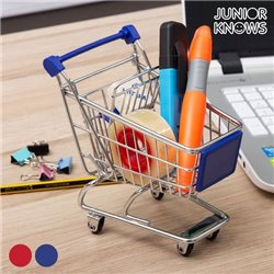 Mini Metal Shopping Trolley Red