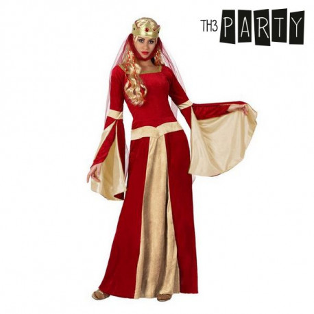 Verkleidung für Erwachsene Mittelalterliche dame Rot M/L