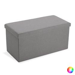 Cassapanca Lungo Smontabile Lino Legno MDF (38 x 37,5 x 76,5 cm) Beige