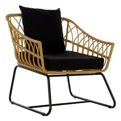 Sedia da giardino DKD Home Decor Metallo Rattan (76 x 58 x 80 cm)