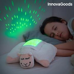 Peluche Projecteur LED d'Étoiles Mouton InnovaGoods