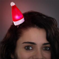 Weihnachtsmannmütze Haarspange mit LED Licht