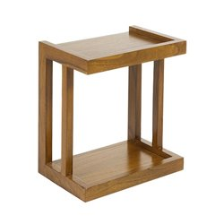 Side Table Mindi wood Plywood (45 x 30 x 50 cm) Brown