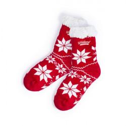 Chaussettes de Noël Antidérapantes 145918 (taille unique) Rouge