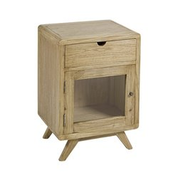 Nightstand Mindi wood Plywood (45 x 35 x 65 cm) Natural