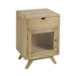 Mesa de Cabeceira Madeira de cedro Playwood (45 x 35 x 65 cm) Castanho