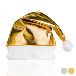 Father Christmas Metal Hat 149833 Gold