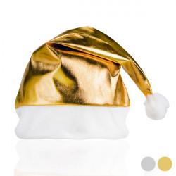 Metallische Weihnachtsmann-Mütze 149833 Silberfarben