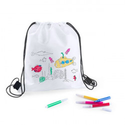 Rucksack to Colour In with Felt Tip Pens 144893 White