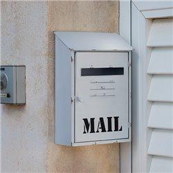 Caixa de Correio Metálica Branca Mail