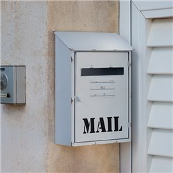 Mail White Metal Letterbox