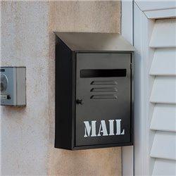 Caixa de Correio Metálica Preta Mail