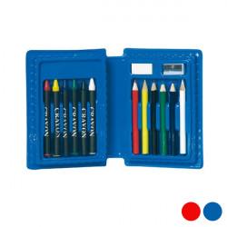 Estuche Escolar (14 pcs) 149710 Azul