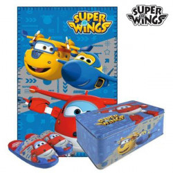 Metallbox mit Decke und Hausschuhen Super Wings 70793 (3 pcs) 3 pcs 28-29