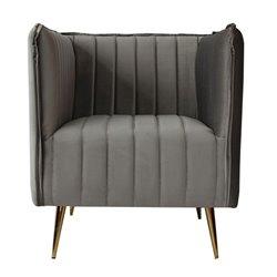 Armchair Art Deco Lines (73 x 74 x 79 cm) Grey