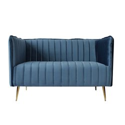 Divano a 2 Piazze Art Deco Lines (126 x 73 x 78 cm) Azzurro