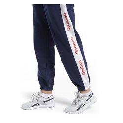 Pantalone di Tuta per Adulti Reebok Linear Logo FL Donna Blu Marino L