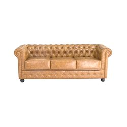 3 Seater Chesterfield Sofa (200 x 80 x 72 cm) Brown