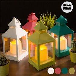 Lanterne mit LED-Kerze Pistaziengrün