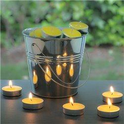Kerzen mit Citronella im Dekorativen Kübel (50 Kerzen)