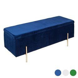 Baúl Art Deco (110 x 40 x 42 cm) Madera de pino Azul