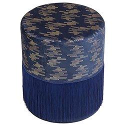 Puff Legno di pino Azzurro (34 X 34 x 40 cm)