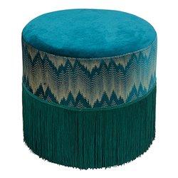 Puff Madera de pino Verde (34 x 34 x 40 cm)