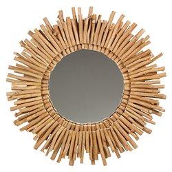 Espejo Madera de acacia (77 X 6 x 77 cm)