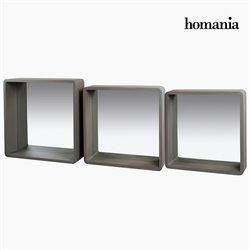 Set di Specchi Grigio (3 Pcs)