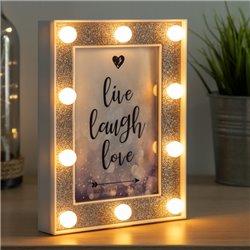 Cadre Photo LED à Paillettes