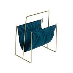 Tidsskriftholder Messing Samt (40 X 26 x 48 cm)