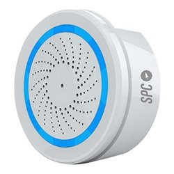 Sirène Sans Fil SPC Sonus 6314B WIFI 2.4 GHz USB Blanc