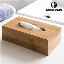 TakeTokio Bamboo Tissue Box
