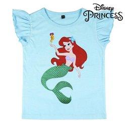Maglia a Maniche Corte Princesses Disney Azzurro 3 anni