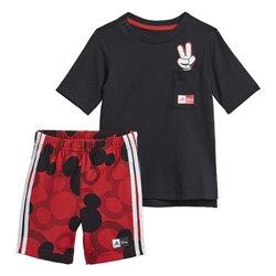 Tuta per Neonati Adidas Disney INF MM SUM 2 GM6939 Nero/Rosso Taglia - 9 Mesi