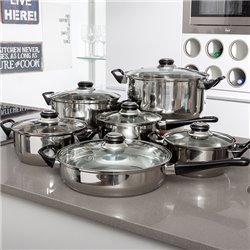 Batería de Cocina de Acero Inoxidable Bravissima Kitchen (12 piezas)