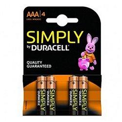 Batterie Alcaline DURACELL Simply DURSIMLR3P4B LR03 AAA 1.5V (4 pcs)