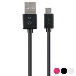 Cavo di Dati/Ricarica con USB KSIX Micro USB 1 m Nero